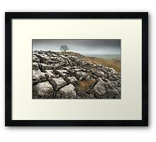 Malham Limestone Pavement Framed Print
