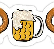 Pretzel Dog & Beer Sticker