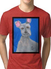 The Oil Pastel Scotty Dog by Julia Hanna Tri-blend T-Shirt