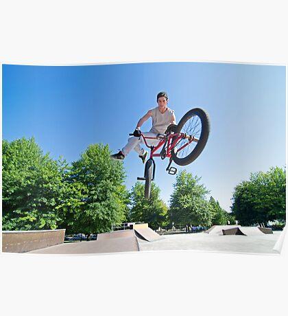 BMX Bike Stunt tail whip Poster