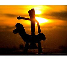 Gumby rides into the sunset Photographic Print