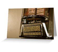 the jukebox Greeting Card