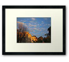Pierce Street 6 am. Framed Print