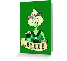 Steven Universe Peridot Flower Crown Uncensored Greeting Card