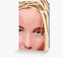 Her Eyes One Greeting Card