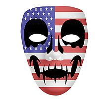 American Flag Skull Mask Photographic Print