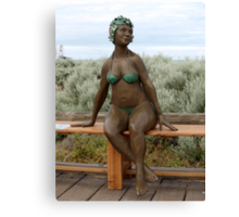 Bather on the Bench Canvas Print