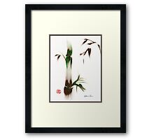 Little Lady - Zen bamboo ladybug painting Framed Print