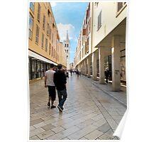 Zadar street scene Poster