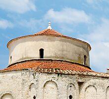 round stone building in Zadar by Anne Scantlebury