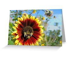bees at work Greeting Card
