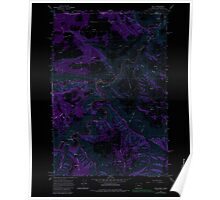 USGS Topo Map Oregon OR Troy 281880 1967 24000 Inverted Poster