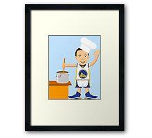 Chef Curry Widda Pot Boi! Framed Print