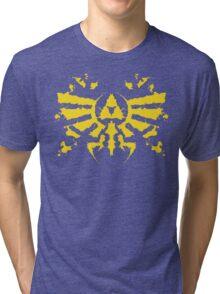 Hyrule Rorschach (gold) Tri-blend T-Shirt