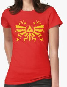 Hyrule Rorschach (gold) Womens Fitted T-Shirt