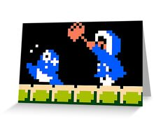 Ice Climber Hit Greeting Card
