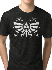 Hyrule Rorschach (white) Tri-blend T-Shirt