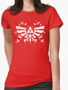 Hyrule Rorschach (white) Womens Fitted T-Shirt