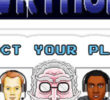 Select Your Player to Journey to the Center of Hawkthorne! Sticker