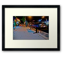 City Bench Framed Print