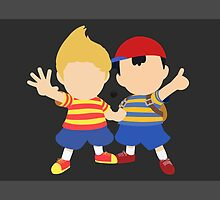 Ness & Lucas (Black) - Super Smash Bros. [Requested] by samaran