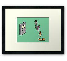 Board Games vs Gameboy Framed Print