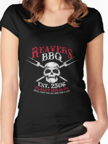Reaver's BBQ - It'll will cost you an arm and a leg. Women's Fitted Scoop T-Shirt