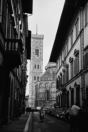 Streets of Florence in black & white by Elana Bailey