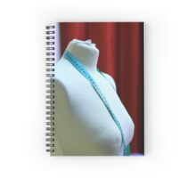 tailor's dummy and tape measure  Spiral Notebook