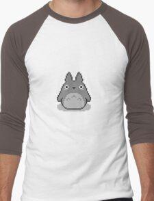 Totoro Pixelated Men's Baseball ¾ T-Shirt