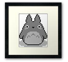 Totoro Pixelated Framed Print