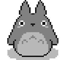 Totoro Pixelated Photographic Print