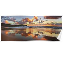 Reflections - Frazer Beach Sunrise Poster