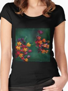 The World of Tiny Flowers Women's Fitted Scoop T-Shirt