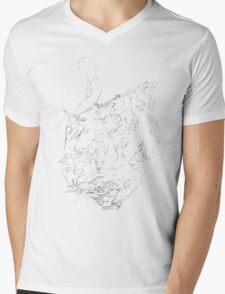 Psychedelic Raindrop  Mens V-Neck T-Shirt