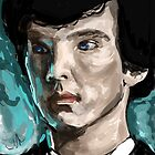 Sherlock and the pool. by johnwatsonian