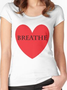 breathe love Women's Fitted Scoop T-Shirt