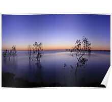 Menindee Lakes Sunset Poster