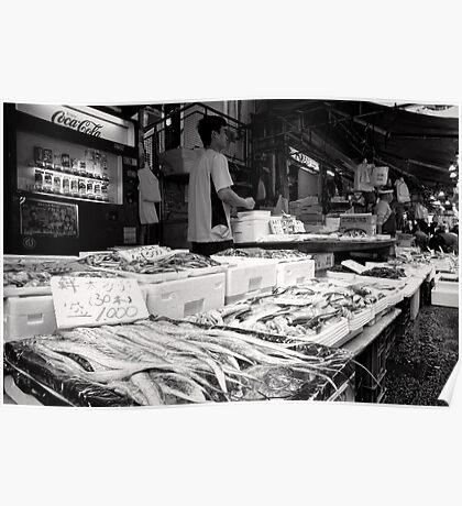 Fancy Fresh Fish - Japan Poster