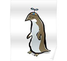 propellerhat penguin Poster