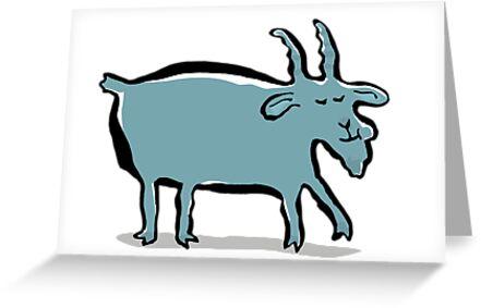 The goat eats a caramel drops by greendeer