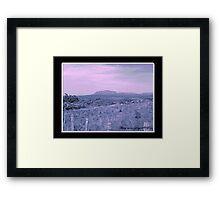 Mt Roland Magical Sky Framed Print