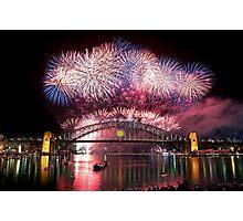 Sydney Fireworks 2011-12 Photographic Print