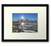 New York on Ice Framed Print