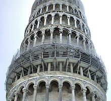 A different POV of the Leaning Tower of Pisa by Robyn Forbes
