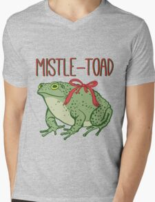 MistleToad - Funny Toad - Christmas - Holiday Mens V-Neck T-Shirt