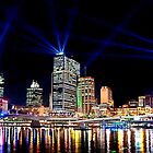 Brisbane City Light Show by AzureSky