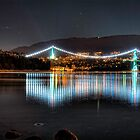 Lion&#x27;s Gate Bridge Lights (HDR) by James Zickmantel