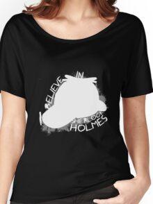 I Believe In Sherlock V.1 (white) Women's Relaxed Fit T-Shirt