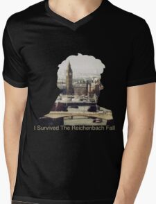 I Survived The Reichenbach Fall #2 Mens V-Neck T-Shirt